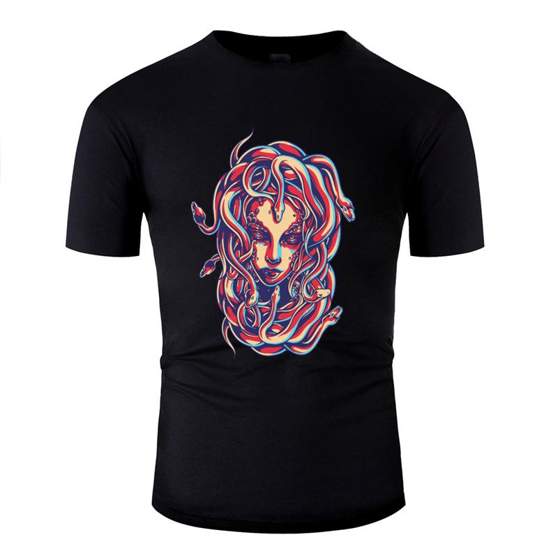 Impression grand Medusa t-shirt homme 2020 hommes Lumière du soleil t-shirt col rond 100% coton, plus la taille 3XL 4XL 5XL T-dessus