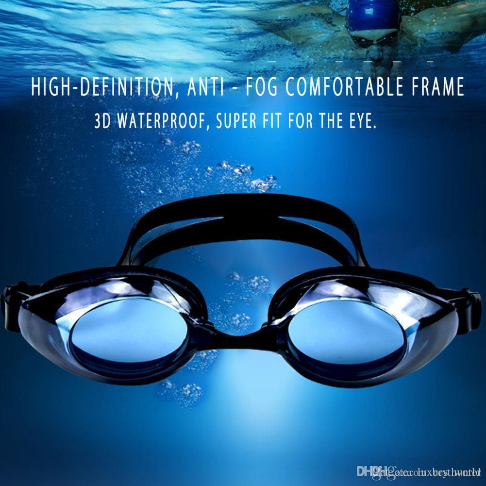 Piscina para adultos Profesional Swim Lentes PC Anti-Niebla HD de natación de silicona resistente al agua Gafas de SS-22