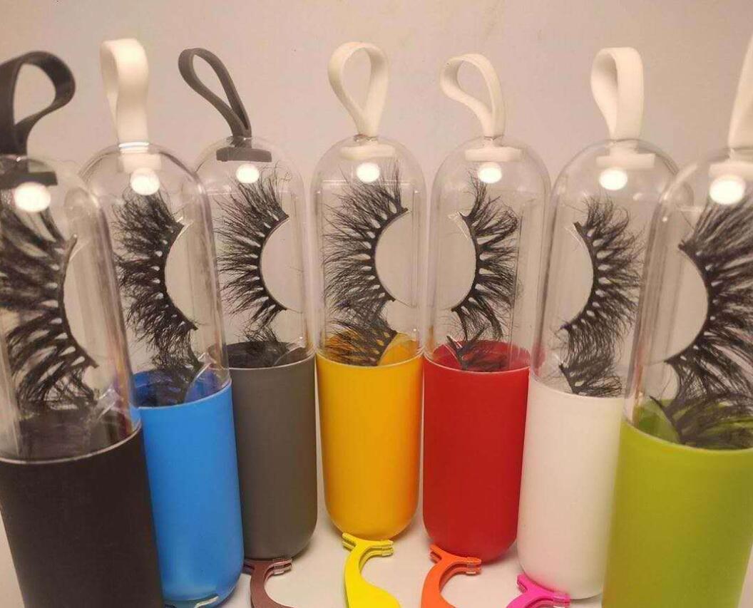 10pcs pestana Embalagem Box personalizado 3d Mink cílios Caixas Lash listra etiqueta vazia Caso Privada Cílios Box