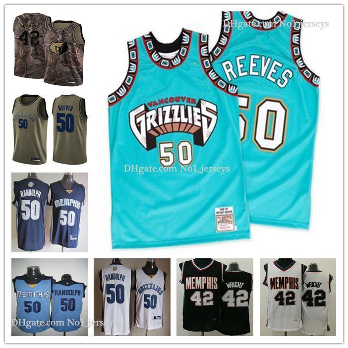 Custom Men's Women MemphisGrizzlies42 Lorenzen Wright 50 Bryant Reeves Green Throwback Basketball EditionnbaJerseys
