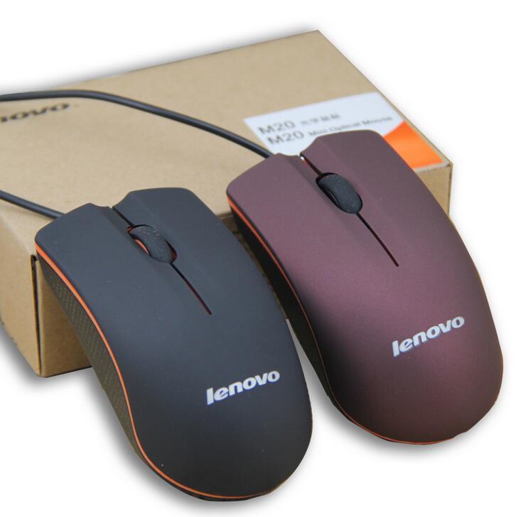 Lenovo M20 USB оптическая мышь Мини 3D Wired Gaming Производитель Мыши с розничной коробки для компьютера ноутбука Notebook
