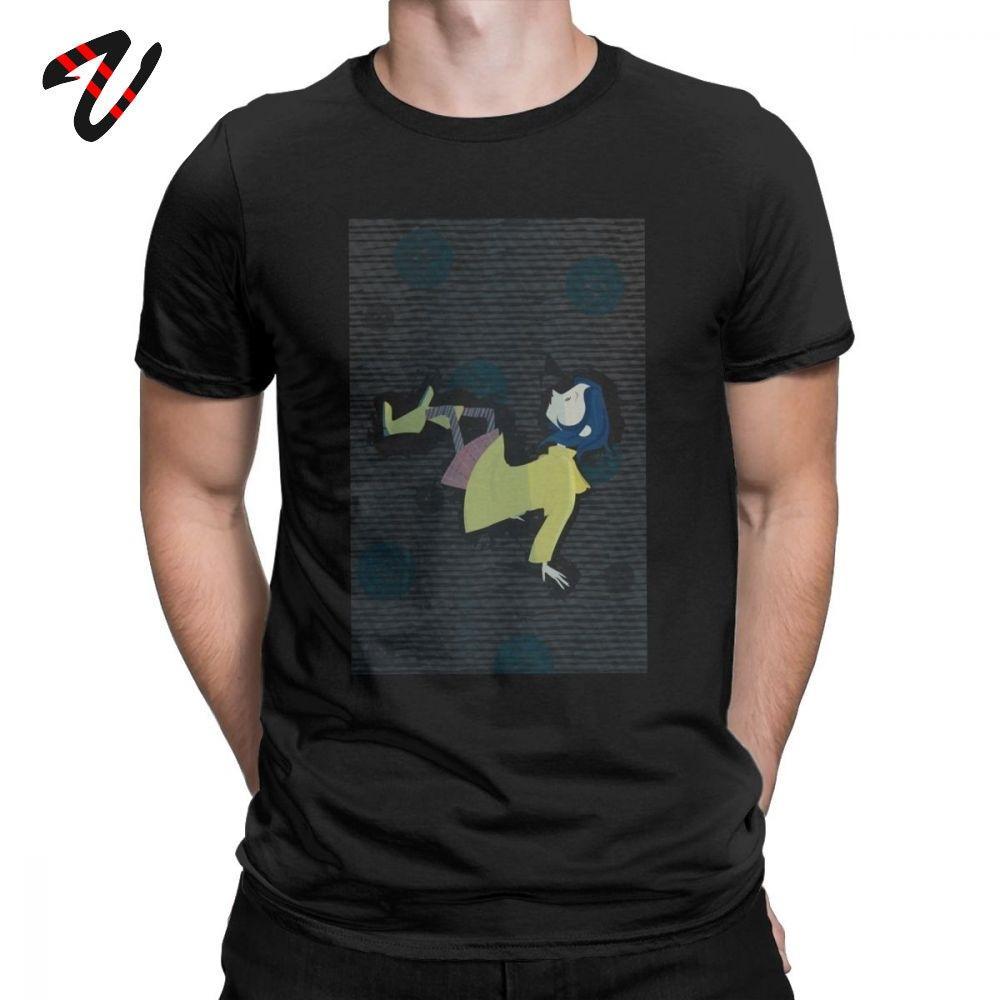 Coraline película camiseta 80s moda camisetas para los hombres de manga corta Tops obra clásica del algodón de primera calidad Regalo de Navidad de la camiseta