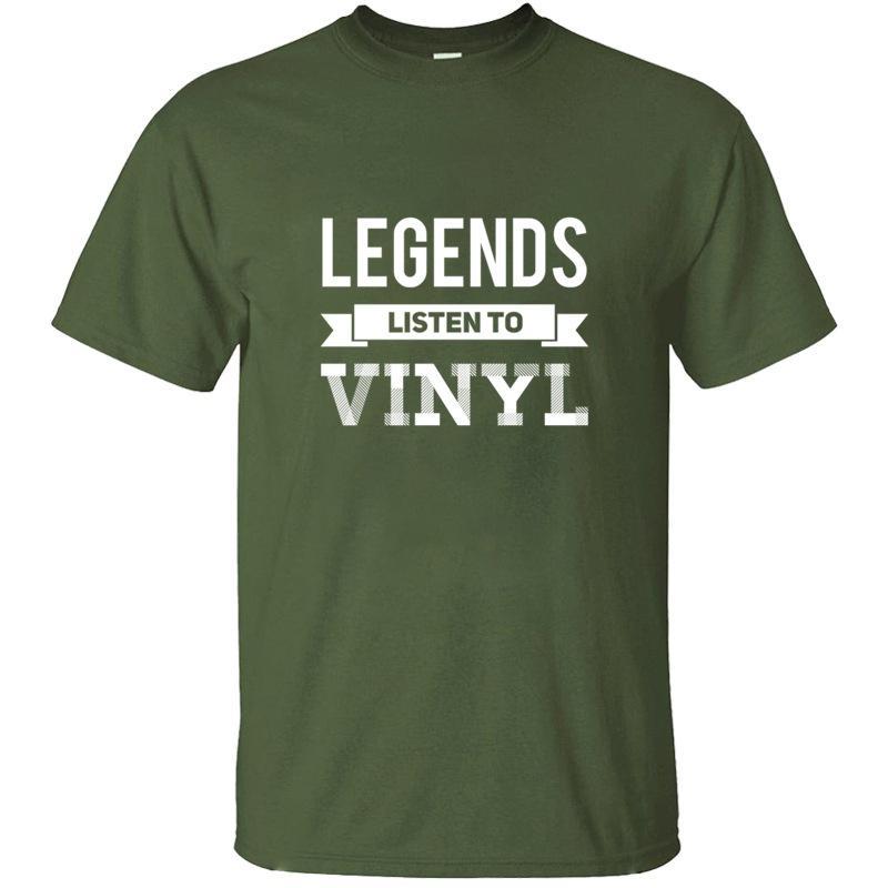 Personalidad de la manera Vinyl LP Records regalo I Vinilos camiseta de Kawaii hombre unisex del color sólido cómico Camisetas Tops Hiphop