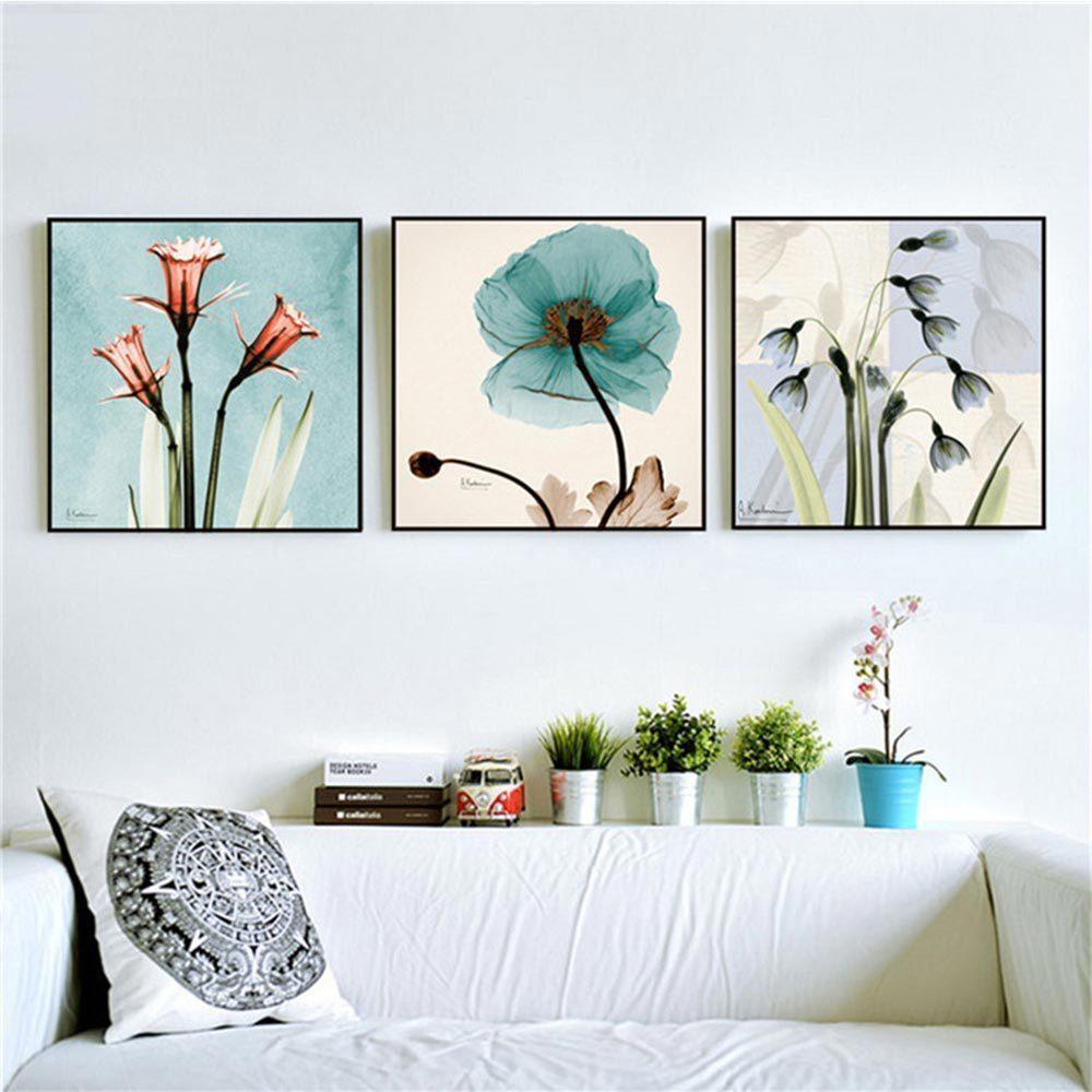 현대 수채화 난초 꽃 A4 포스터 인쇄 꽃 거실 벽 아트 사진 북유럽 홈 장식 캔버스 없음 프레임 회화 없습니다
