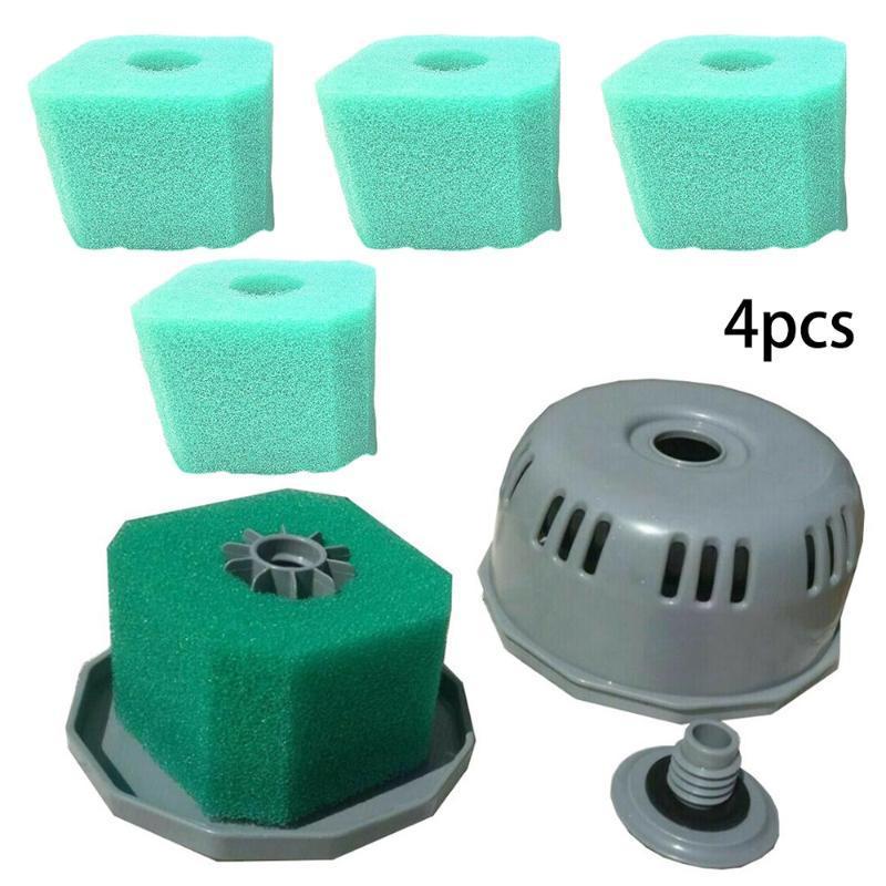 4 Filtros Paquete Bañera de hidromasaje Spa reutilizable lavable esponja de espuma para V1 S1 fácil de usar espuma reutilizable filtros que se puede utilizar varias