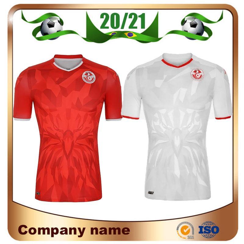 جديد 2020 تونس لكرة القدم الفانيلة 20/21 الرئيسية الأحمر # 7 MSAKNI # 10 KHAZRI كرة القدم قميص الزي خليفة SASSI معلول تونس لكرة القدم