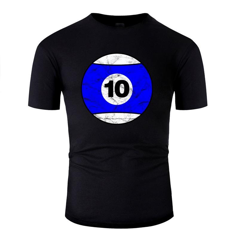 Vintage Moda Bilardo Topu Mavi Ten - Vintage Tişörtlü Adam% 100 Pamuk Unisex Bay Tshirts Grey Kadın Tee Üst