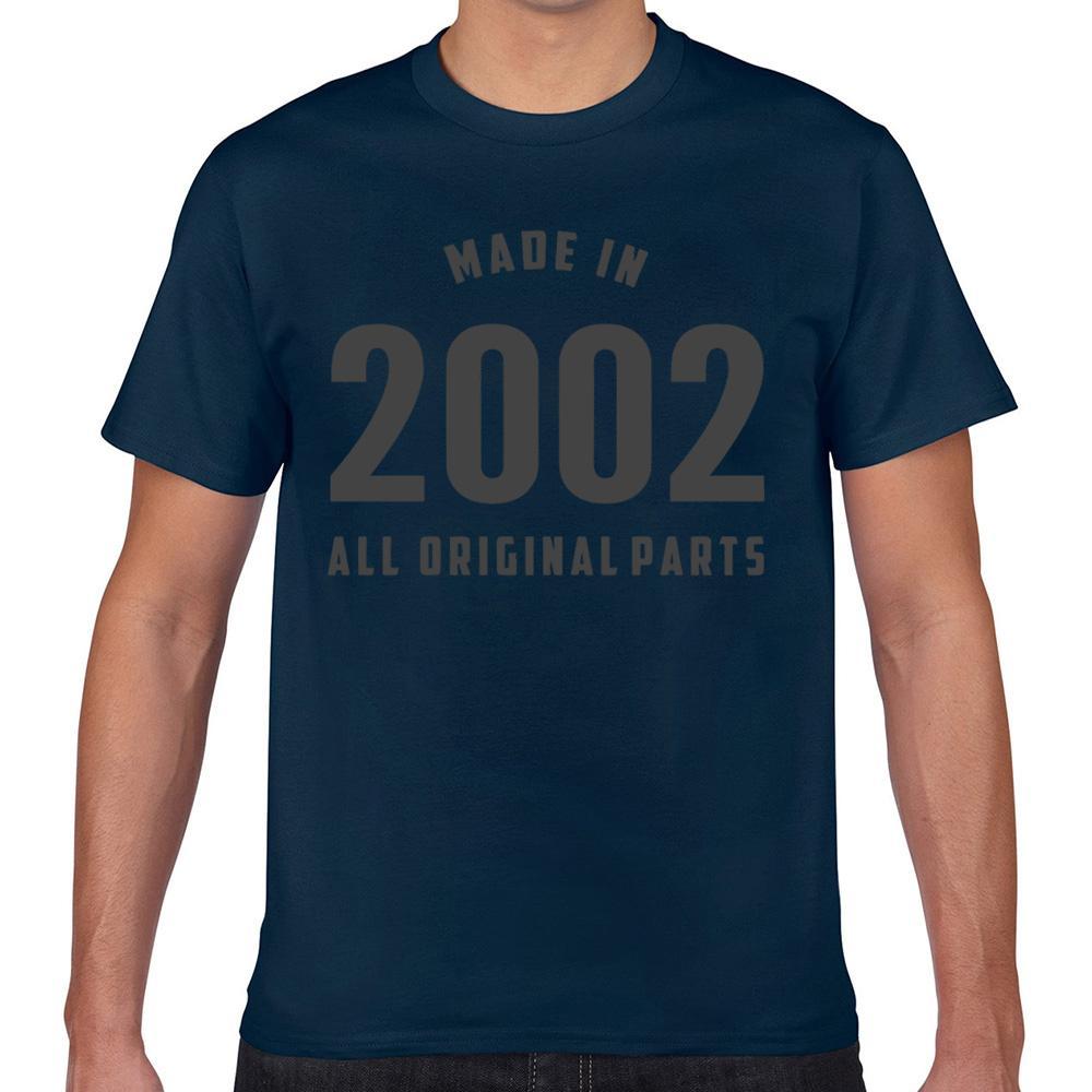 Tops T-shirt homme fait en 2002 toutes les pièces d'origine Hipster Basic Black Geek court Homme T-shirt XXX