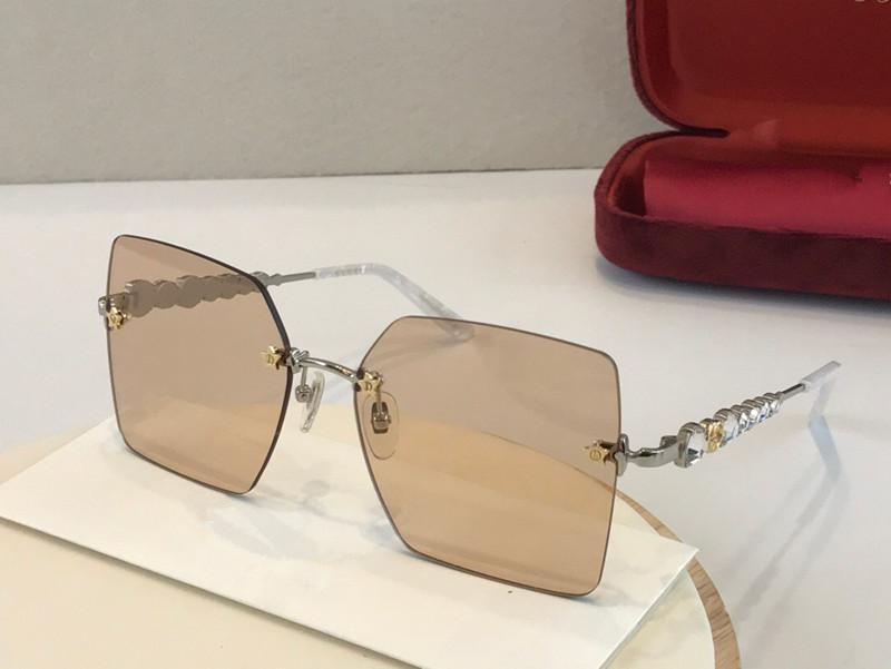 0644 nuevas de la manera gafas de sol populares gafas de protección clásicos simples de calidad superior marco cuadrado y elegante de calidad superior estilo 0644S