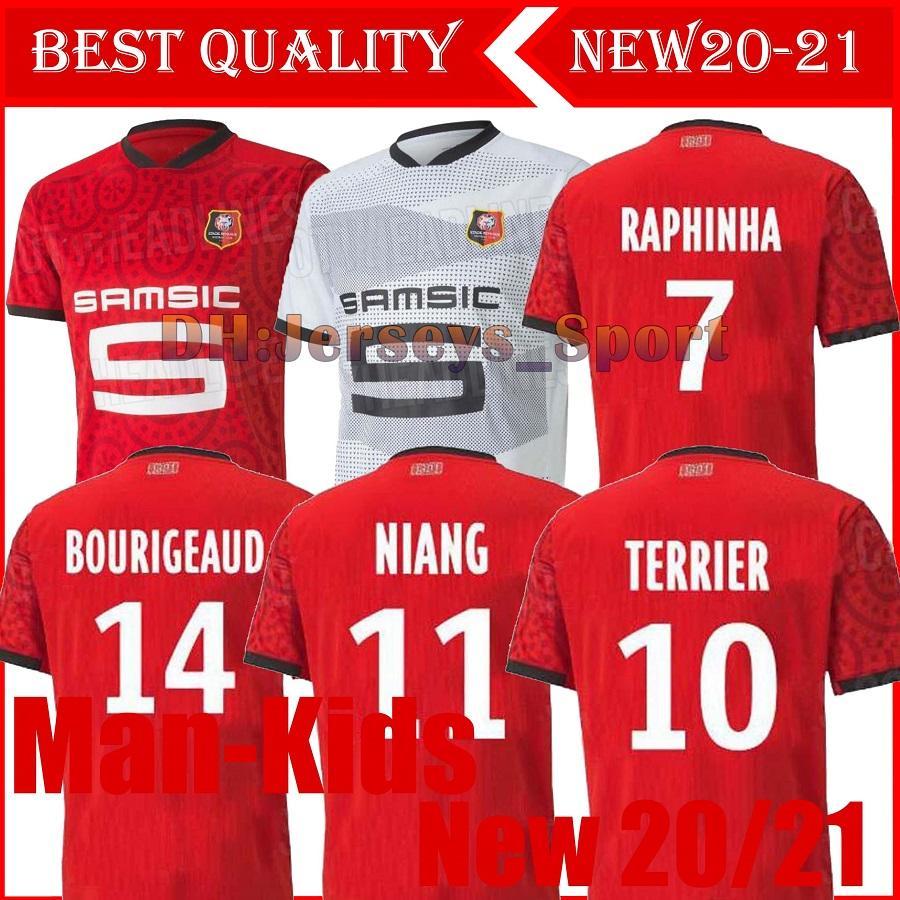 Rennes 20 21 Stade Rennais camisas de futebol fc distância Niang Bourigeaud Terrier 2020 2021 maillot de camisas de futebol pé Camavinga homem crianças kit