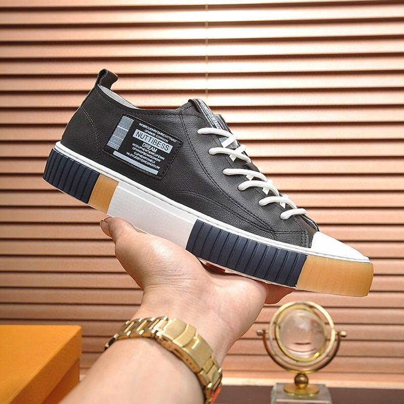2021-2020ss Luxo Couro Borracha design de alta qualidade inferior Sneakers Todos -match respirável Mens calçados casuais dos homens Banquet Shoes Tamanho: 38 -4