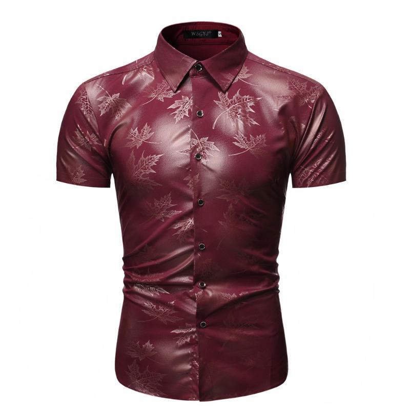 2020 veranos de la impresión camisa de los hombres da vuelta-abajo de la manga corta Casual Camisas de la playa de Hawai Los hombres Streetwear Chemise Homme