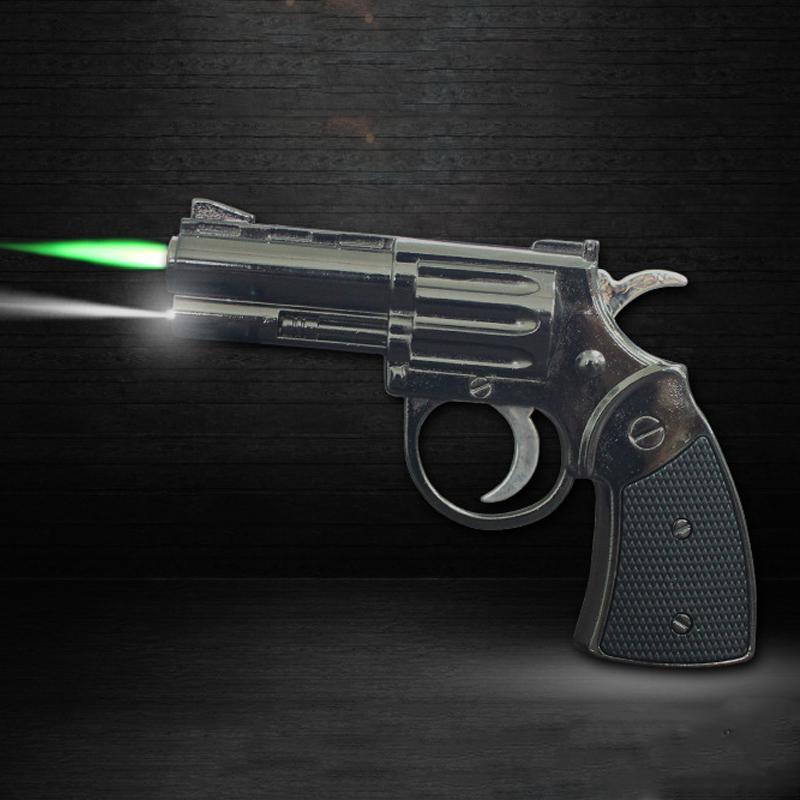 Petit pistolet Briquet Jet flamme allume la flamme pour la cuisine géant robuste briquet rechargeable pour Fumer coupe-vent avec LED