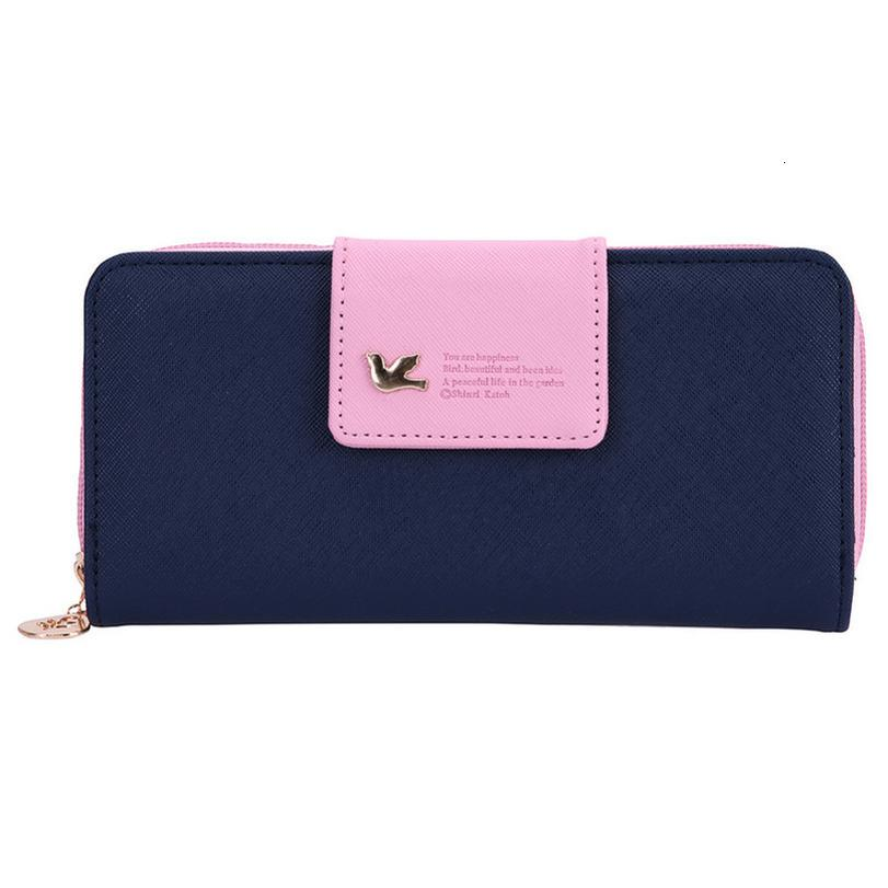 Moda Portafoglio chiusura lampo delle donne borse in pelle carteira Porta carte di credito signore Zipper Wallet forte, la prevenzione dell'inquinamento