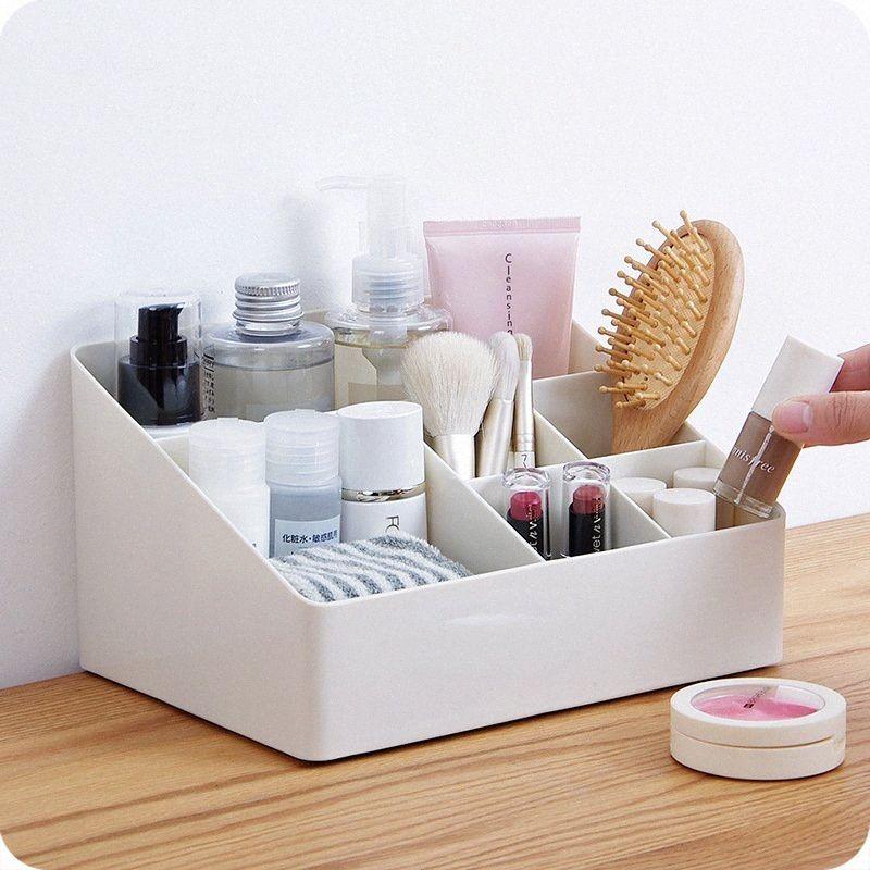 Trucco YiCleaner plastica dell'organizzatore Cosmetic Storage Box della penna della spazzola detriti supporto da tavolino a più strati di immagazzinaggio scatola o4eZ #