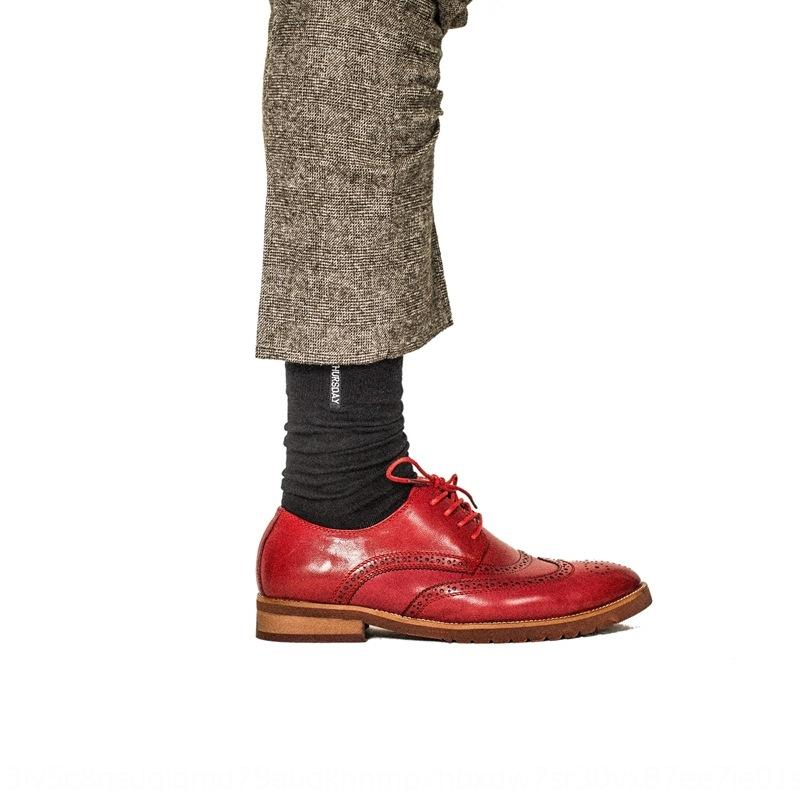 nuevo color sólido Europea y el gran tamaño de algodón bordada Happy Socks estilo del caballero de los hombres británicos calcetines crTQf