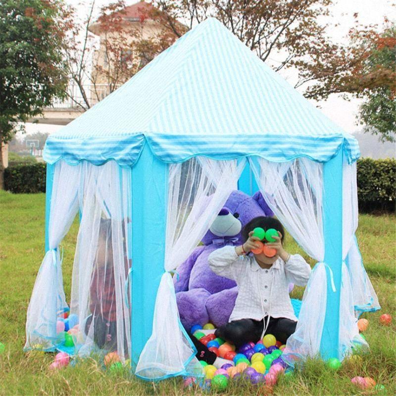 Prenses Kız Kalesi Playtent Taşınabilir Çocuk Çadır Oyuncak Ball Pool Play House Çocuk Küçük Ev Açık Katlanır Bahçe Çadır z80r #