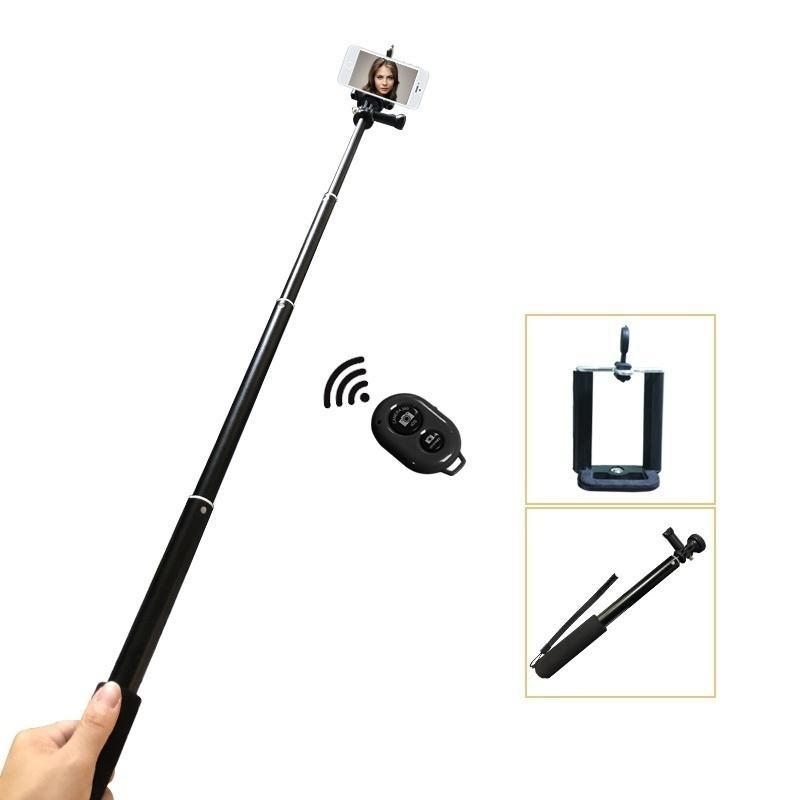 Fábrica 3 em 1 extensível Telefone selfie vara com remoto sem fio Fotografia Shutter LED Beleza Luz Anel Regulável lâmpada Anel + T