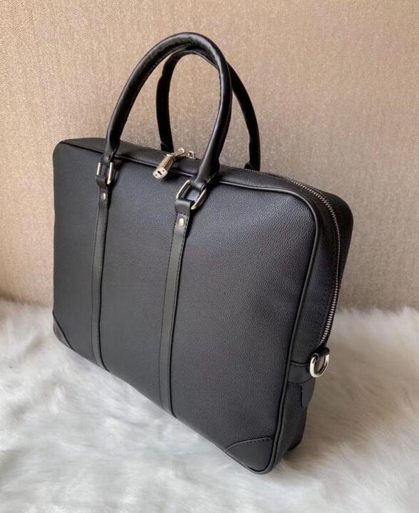 Los hombres de negocios bolso de la cartera del cuero de la PU de cuero de lujo de la oficina del bolso del ordenador portátil de gran capacidad de la cartera del hombro Bags21 masculino