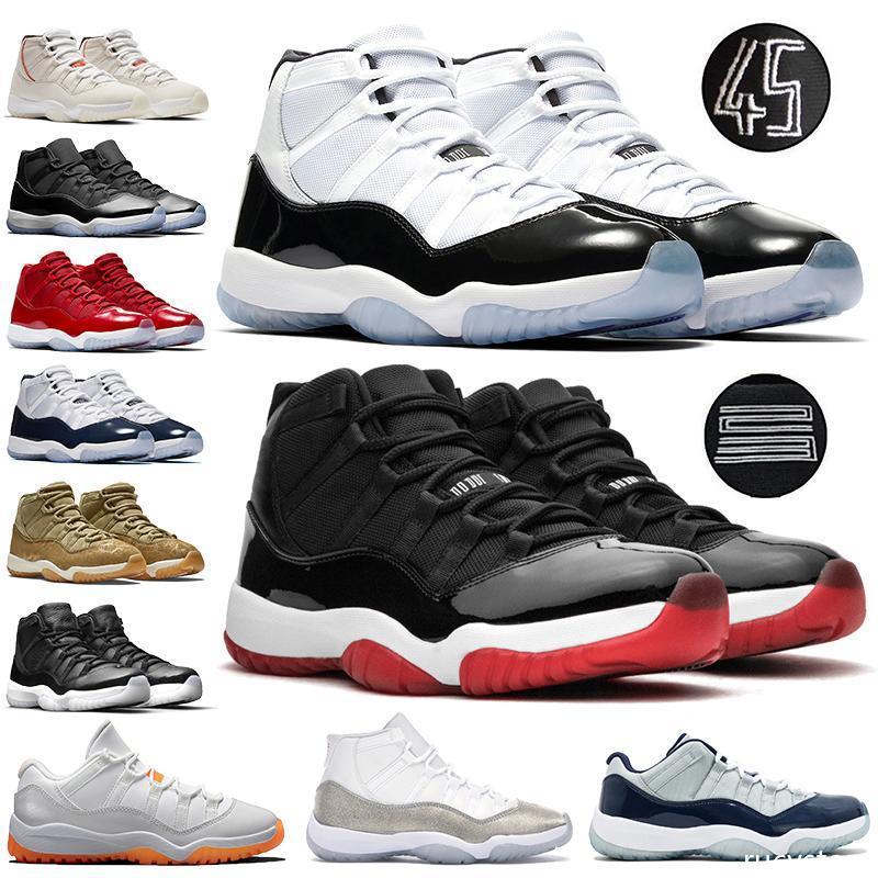 Jumpman pele de serpente Bred 11 11s tênis de basquete homens baixo cítricas boné e um vestido metálico branco mulheres prata Sports Designer sapatilhas