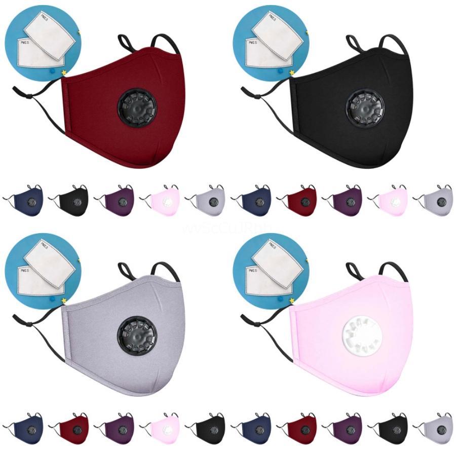 Viso Trasporto libero Mascherina 3Ply Bocca non tessuto maschere di uso della casa di respirare la polvere Designer Stampato Facemask L 1 1Pcs 7.339.044 I1Lg # 613 # 803