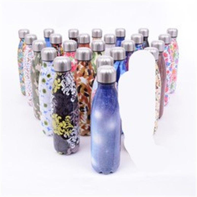 Stainless Steel Water Bottles Unicorn Unicornio With Lid Cola Shaped Cup Non Slip Office Hot Sale 18 5zx V