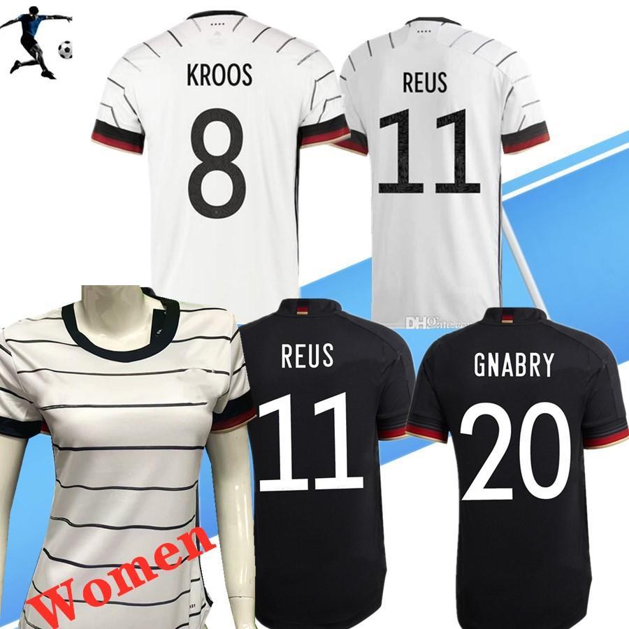 TOP 2020 독일 축구 유니폼 HUMMELS KROOS 여성 축구 셔츠 20 21 드락 슬러 레 우스 저지 MULLER GOTZE 아이 키트 camisas 드 Futebol 팀