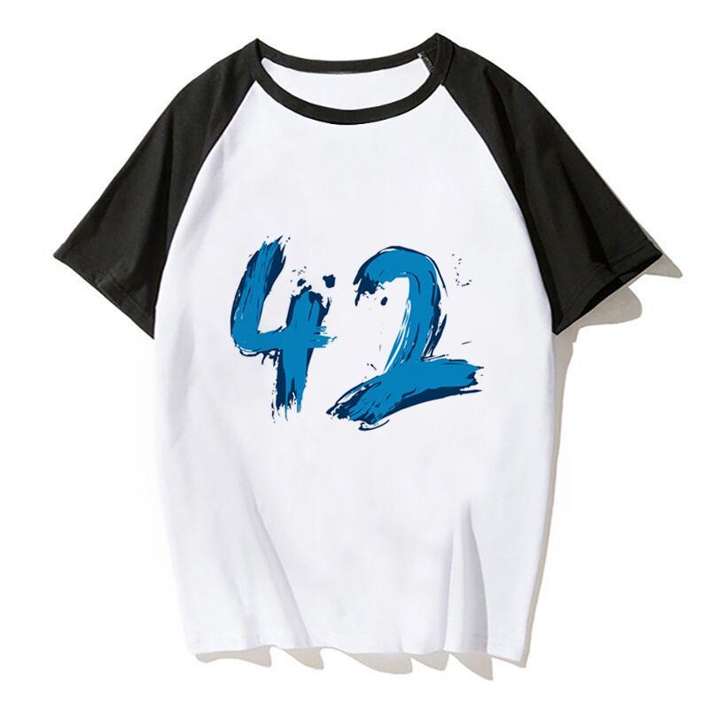 Mavi 42 kadın ve erkek Tişört Artı boyutu Tişörtlü Erkekler Giyim Yaz Tee Tops