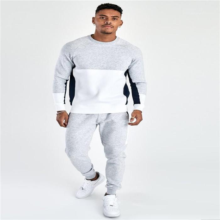Boyun Kapüşonlular Casual Gevşek Homme Sport Suits Tasarımcı Erkek eşofman Kazak Uzun Kollu Ekip