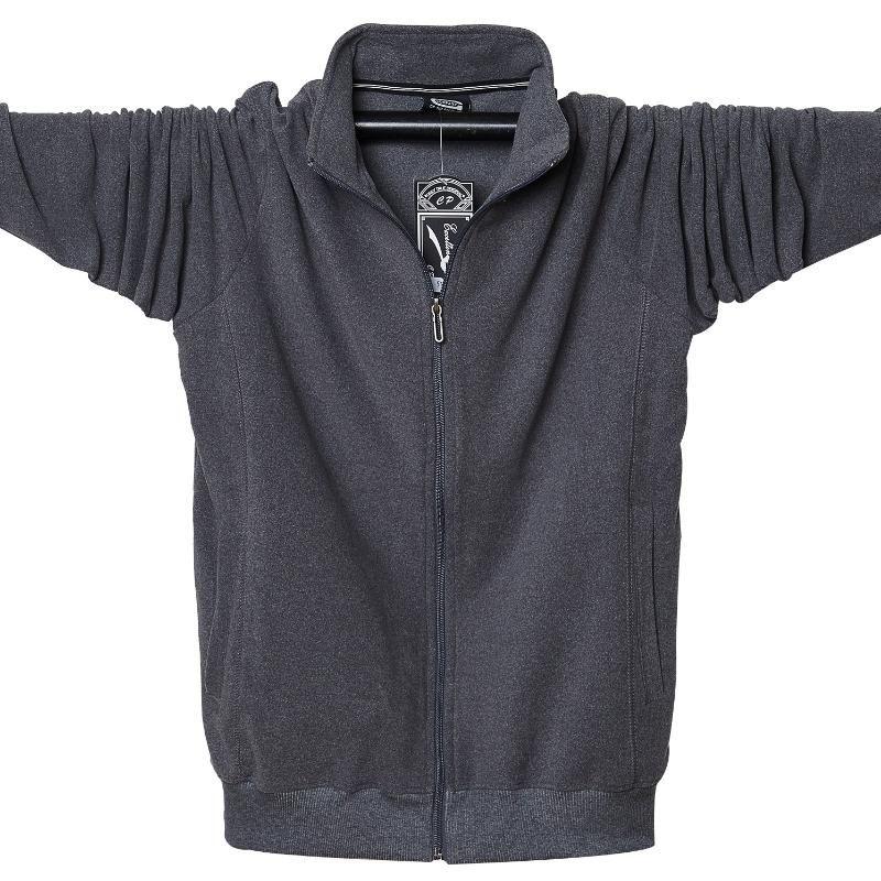 Chaquetas de hombre Moda Viento Desertador de viento Soporte Collar Espesano Chaqueta Fleece Solid Sportwear Sportwear Mascule Abrigo Ropa 6XL