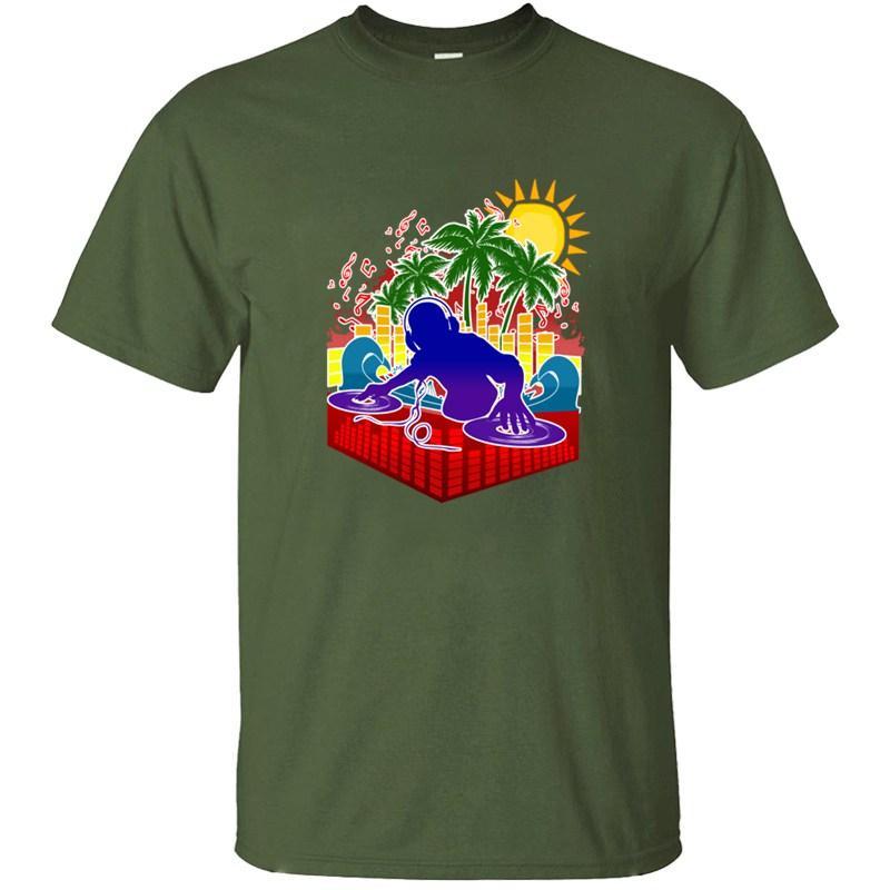 La luce del sole Stampato Beach Dj Summer Party suono T-shirt uomo classica grigia femminile impressionante uomini e donne magliette di Hiphop