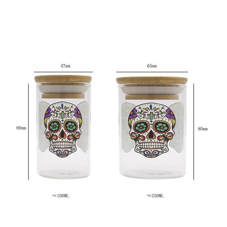 Per Fumatori Herb Stash vaso di sigarette Container Volume vaso d'umidità vetro per Dry Herb e tabacchi contenitore di immagazzinaggio DHB344