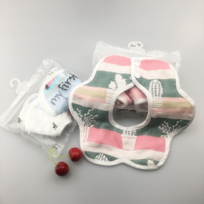 2-teilige Baumwolle Baby Baby Speicheltuch Super-Handtuch bib weichen, saugfähigen Träger Reis Tasche 360-Grad-Baumwolle