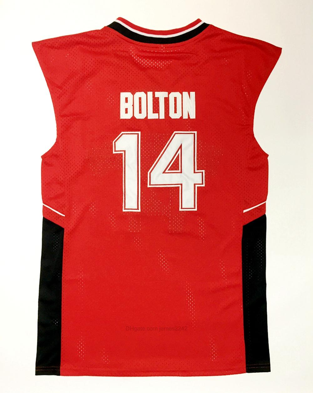 Navire de nous #wildcats 14 Troy Bolton Bolton Basketball Jersey School School College Jerseys Mens Vintage Rouge Rouge Taille S-XXXL