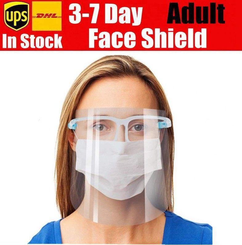 Auf Lager New Face Shield Gesichtsschutz Maske Sicherheit Öl-Splash Proof Anti-UV-Schutz-PET-Gesichts-Abdeckung transparente Gesichtsglasmaske