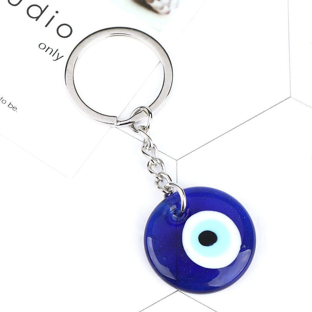 2020 جديد مصمم كيرينغ الأزياء محظوظ التركية اليونانية الأزرق العين سحر قلادة هدية صالح diy سلسلة المفاتيح سلاسل السيارة خاتم جودة عالية
