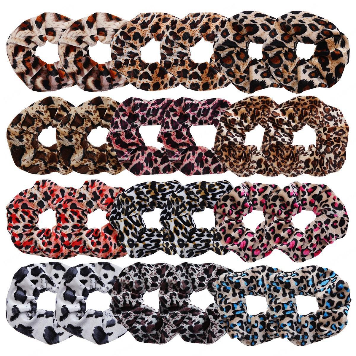 Acessórios de cabelo venda quente Floral Impresso Leopard criativa forma da senhora cabelo faixa Scrunchie elásticos de cabelo gravata Corda