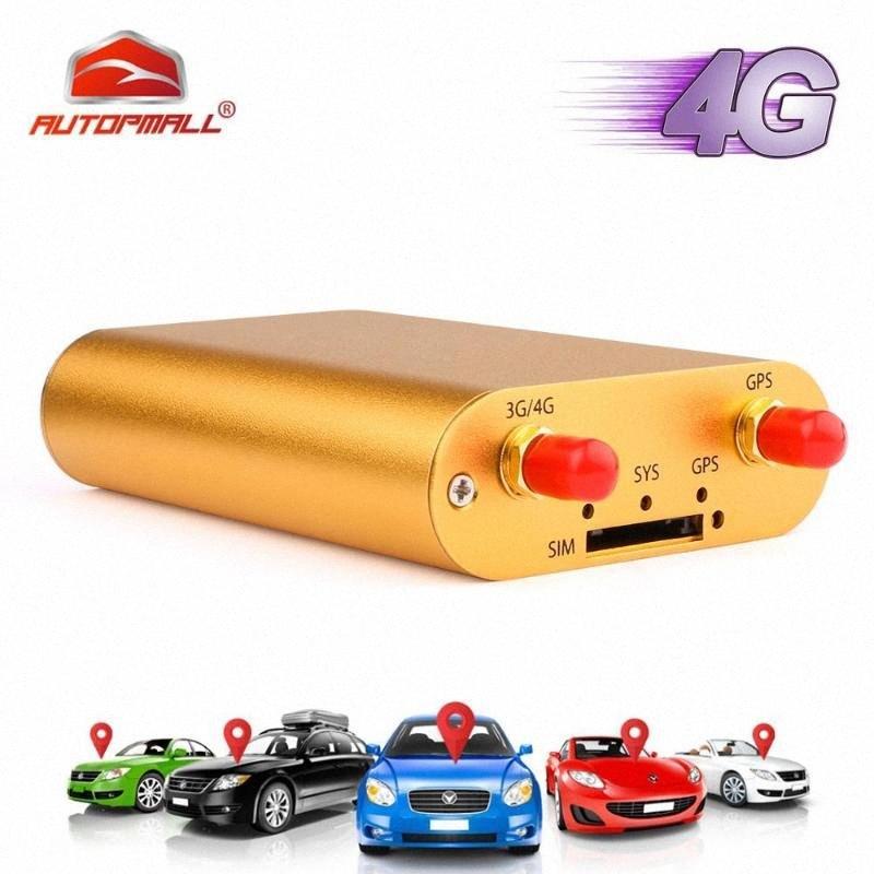 3G 4GGPS auto dell'inseguitore del veicolo dell'inseguitore di GPS per l'automobile Chilometraggio Rapporto in tempo reale Locator Allarme di velocità eccessiva Geo-recinto Free Web APP 7L7T #