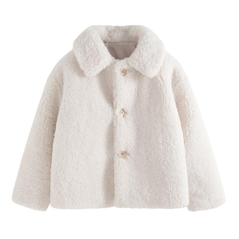 Гранулированный руно шерсти овец через Размер искусственного меха Пальто Женский зимний теплый шерсти овечки Сплошной цвет Женщины куртка способа повелительницы Tops