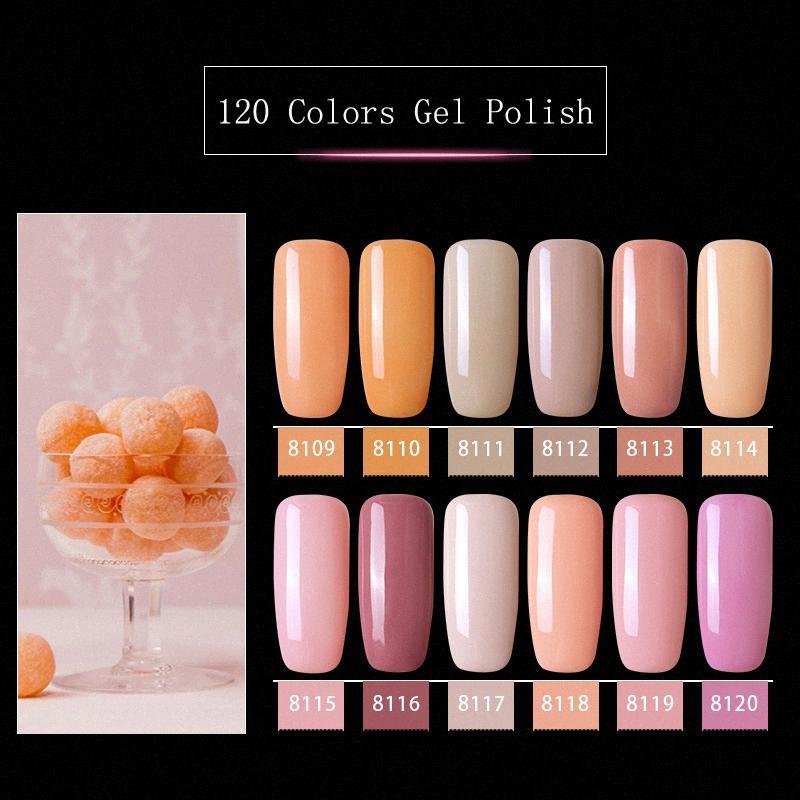 Modelones 핑크 컬러 시리즈 UV 젤 매니큐어 네일 아트 오프 주도 하이브리드 니스 세미 영구 UV 에나멜 uJ8Z 번호를 적시