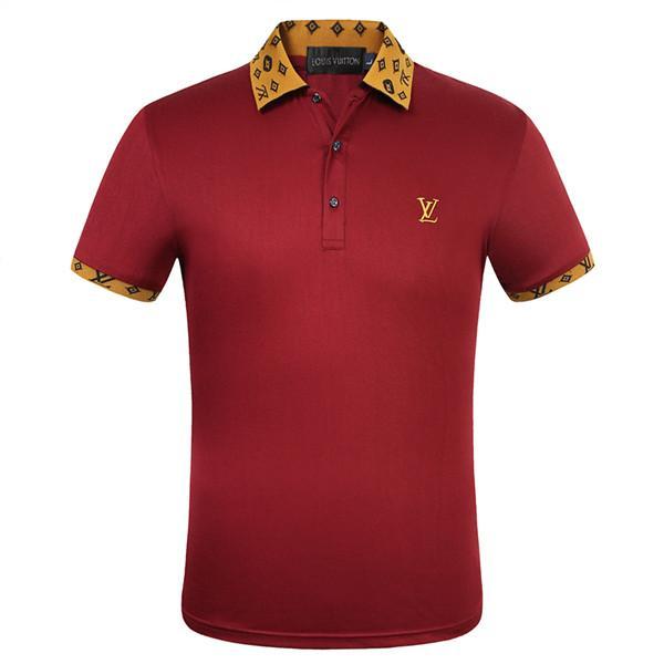 2020 del nuevo diseñador de polos de los hombres de polo de lujo ocasional de los hombres la camiseta del polo de la serpiente abeja impresión de la letra del bordado de moda de la calle para hombre Polos