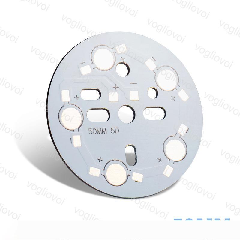 방열판 알루미늄베이스 50mm 5W 15W를 들어 통 전구 스포트 라이트 알루미늄 플레이트 은빛 블랙 하이 파워 1.5MM 두께 EPACKET
