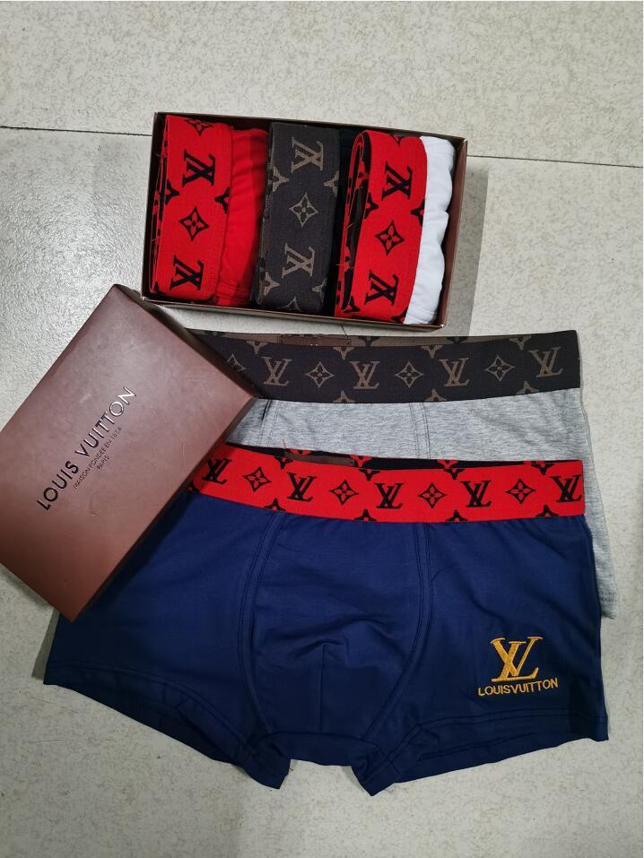 Дизайнер бренда Mens боксера мужчин Трусы Краткая для нижнего белья Человек UnderPanties Sexy Мужские боксеры хлопок нижнее белье шорты Мужчины