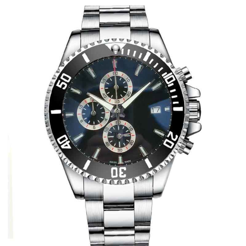 Diseñador de F1 reloj suizo 46mm cronógrafo movimiento de cuarzo correa de acero inoxidable de los hombres del reloj reloj de Montre de luxe de negocios Reloj de pulsera