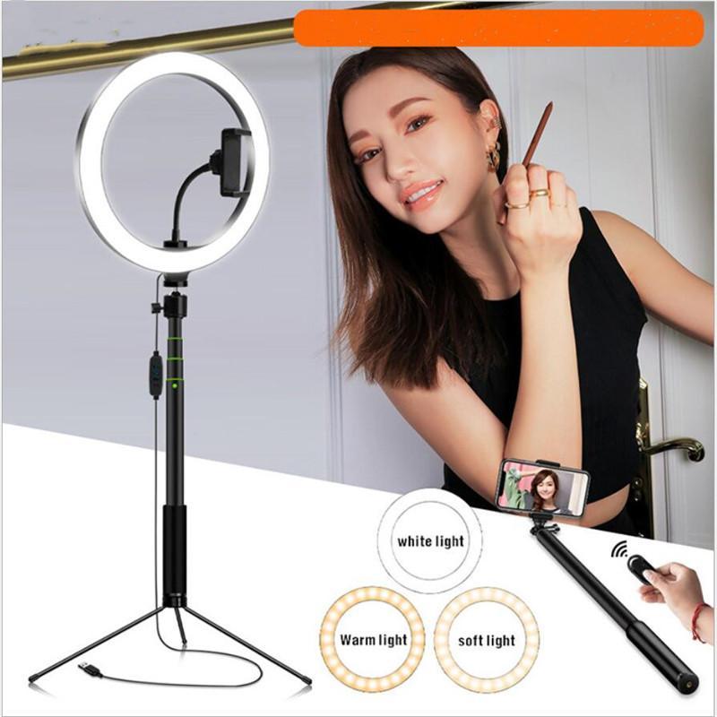 5in1 20 cm anillo LED Selfie Light Video Light Light para YouTube Maquillaje Selfie con 120cm Tripod Teléfono Soporte Clip Bluetooth Control remoto