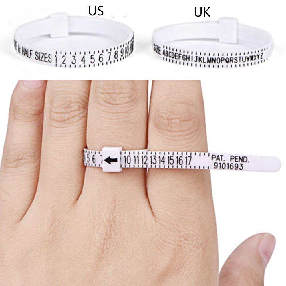 Профессиональный Ring Sizer UK / US Официальный британский / американский Finger Мера Gauge Мужчины и женщин размеры A-Z Вспомогательное оборудование ювелирных изделий