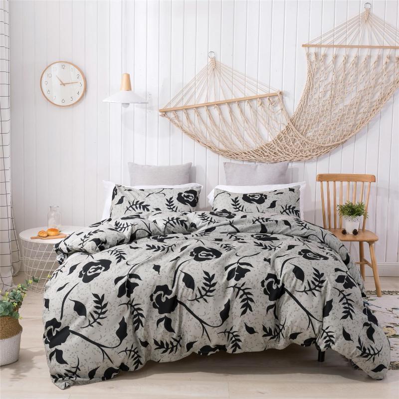 Queen King одеяло комплект постельных принадлежностей нордический покрытие кровати печать корпус комплект пододеяльник кровать Постельные принадлежности Одеяло Подушка Домашний текстиль