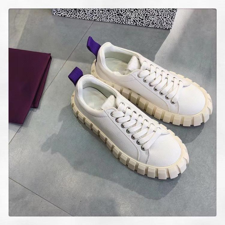 Eytys shoes Thick top canvas shoes small serrated sole casual small white shoes Girl Fashion