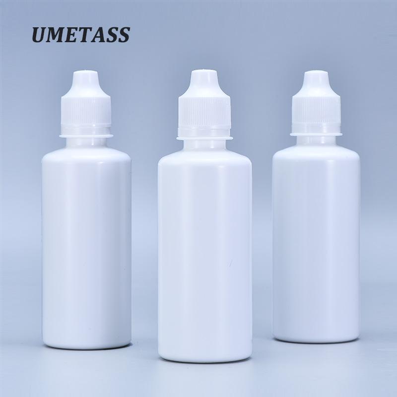 UMETASS 120ML فارغة ضغط من البلاستيك السائل زجاجة PE جولة الغراء العين زجاجات بالقطارة 1PCS حاوية عينة