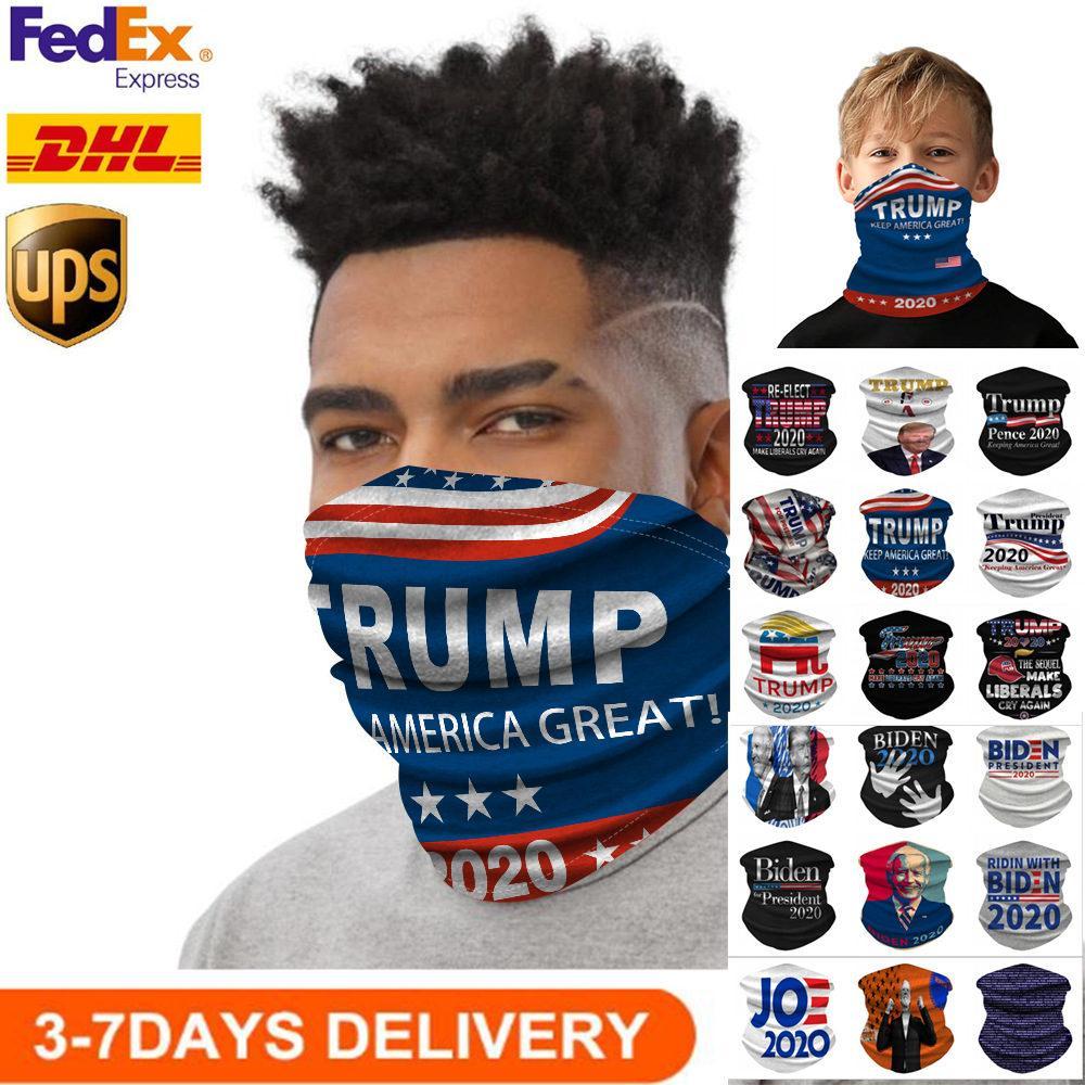 Maschere US STOCK Sciarpa di riciclaggio unisex Bandana Moto Magia Sciarpe Visiera Foulard collo maschera di protezione esterna Trump elezioni 2020
